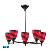 Celina LED 28 inch Dark Rust Chandelier Ceiling Light in Autumn Glass