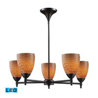 Celina LED 28 inch Dark Rust Chandelier Ceiling Light in Cocoa Glass