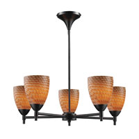 ELK Lighting Celina 5 Light Chandelier in Dark Rust 10155/5DR-C