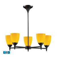 Celina LED 28 inch Dark Rust Chandelier Ceiling Light in Canary Glass