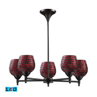 ELK Lighting Celina 5 Light Chandelier in Dark Rust 10155/5DR-CPR-LED