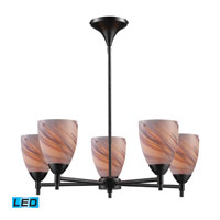 Celina LED 28 inch Dark Rust Chandelier Ceiling Light in Creme Glass