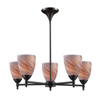 ELK Lighting Celina 5 Light Chandelier in Dark Rust 10155/5DR-CR