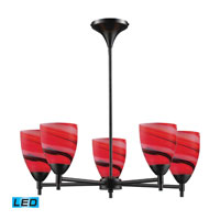 ELK Lighting Celina 5 Light Chandelier in Dark Rust 10155/5DR-CY-LED
