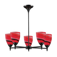 ELK 10155/5DR-CY Celina 5 Light 28 inch Dark Rust Chandelier Ceiling Light in Standard, Candy Glass photo thumbnail