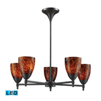 Celina LED 28 inch Dark Rust Chandelier Ceiling Light in Espresso Glass