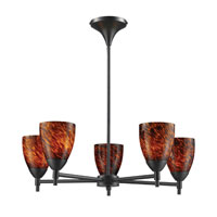 ELK Lighting Celina 5 Light Chandelier in Dark Rust 10155/5DR-ES