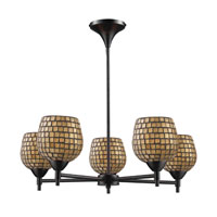 ELK Lighting Celina 5 Light Chandelier in Dark Rust 10155/5DR-GLD