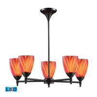 Celina LED 28 inch Dark Rust Chandelier Ceiling Light in Multi Glass