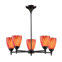 ELK Lighting Celina 5 Light Chandelier in Dark Rust 10155/5DR-M