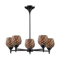 ELK Lighting Celina 5 Light Chandelier in Dark Rust 10155/5DR-MLT