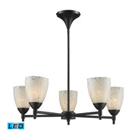ELK Lighting Celina 5 Light Chandelier in Dark Rust 10155/5DR-SW-LED
