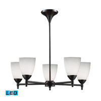 ELK Lighting Celina 5 Light Chandelier in Dark Rust 10155/5DR-WH-LED