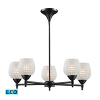 ELK Lighting Celina 5 Light Chandelier in Dark Rust 10155/5DR-WHT-LED