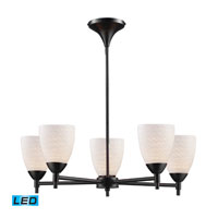 ELK Lighting Celina 5 Light Chandelier in Dark Rust 10155/5DR-WS-LED
