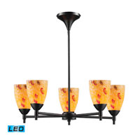 ELK Lighting Celina 5 Light Chandelier in Dark Rust 10155/5DR-YW-LED