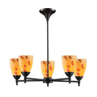 ELK Lighting Celina 5 Light Chandelier in Dark Rust 10155/5DR-YW