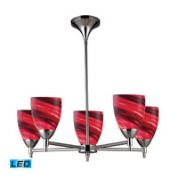ELK Lighting Celina 5 Light Chandelier in Polished Chrome 10155/5PC-A-LED