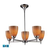 Celina LED 28 inch Polished Chrome Chandelier Ceiling Light in Cocoa Glass