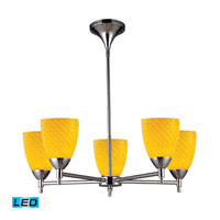 Celina LED 28 inch Polished Chrome Chandelier Ceiling Light in Canary Glass