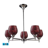 ELK Lighting Celina 5 Light Chandelier in Polished Chrome 10155/5PC-CPR-LED