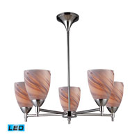 Celina LED 28 inch Polished Chrome Chandelier Ceiling Light in Creme Glass