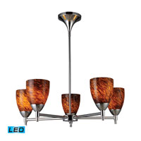 Celina LED 28 inch Polished Chrome Chandelier Ceiling Light in Espresso Glass