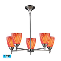 Celina LED 28 inch Polished Chrome Chandelier Ceiling Light in Multi Glass