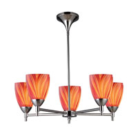 ELK Lighting Celina 5 Light Chandelier in Polished Chrome 10155/5PC-M