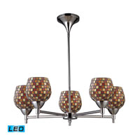 Celina LED 28 inch Polished Chrome Chandelier Ceiling Light in Multi Mosaic Glass