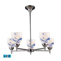 Celina LED 28 inch Polished Chrome Chandelier Ceiling Light in Mountain Glass