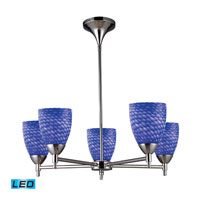 Celina LED 28 inch Polished Chrome Chandelier Ceiling Light in Sapphire Glass