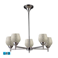 ELK Lighting Celina 5 Light Chandelier in Polished Chrome 10155/5PC-SLV-LED