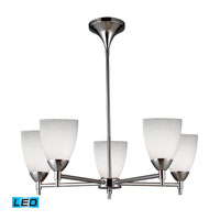 ELK Lighting Celina 5 Light Chandelier in Polished Chrome 10155/5PC-WH-LED