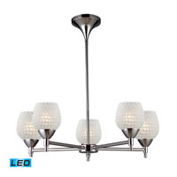 ELK Lighting Celina 5 Light Chandelier in Polished Chrome 10155/5PC-WHT-LED