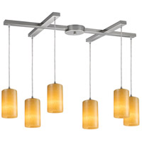 ELK Lighting Coletta 6 Light Pendant in Satin Nickel 10169/6