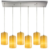 ELK 10169/6RC-LED Piedra LED 9 inch Satin Nickel Pendant Ceiling Light