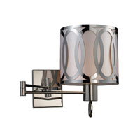 ELK Lighting Anastasia 1 Light Sconce in Polished Nickel 10171/1