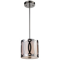 ELK Lighting Anastasia 1 Light Pendant in Polished Nickel 10172/1
