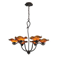 ELK Lighting Villa 6 Light Chandelier in Weathered Rust 10184/6AMB