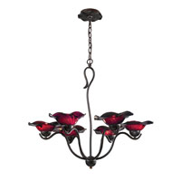 ELK Lighting Villa 6 Light Chandelier in Weathered Rust 10184/6PUR
