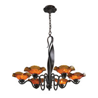 ELK Lighting Villa 6 Light Chandelier in Weathered Rust 10185/6AMB