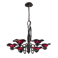ELK Lighting Villa 6 Light Chandelier in Weathered Rust 10185/6PUR