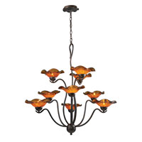 ELK Lighting Villa 9 Light Chandelier in Weathered Rust 10186/9AMB photo thumbnail