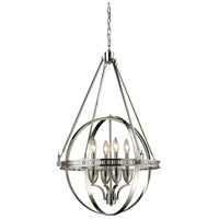 ELK 10192/4 Hemispheres 4 Light 24 inch Polished Nickel Chandelier Ceiling Light photo thumbnail