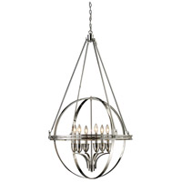 Hemispheres 6 Light 32 inch Polished Nickel Chandelier Ceiling Light