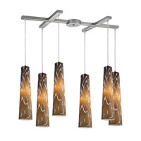 ELK Lighting Momentum 6 Light Pendant in Satin Nickel 10207/6SS photo thumbnail