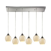 ELK Lighting Fission 6 Light Pendant in Satin Nickel 10208/6RC-CLD