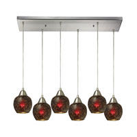 ELK Lighting Fission 6 Light Pendant in Satin Nickel 10208/6RC-WN
