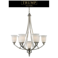 TRUMP HOME CENTRAL PARK VARICK 7 Light 27 inch Polished Nickel Chandelier Ceiling Light